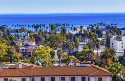 Hof Huis Main Street Vreedzame Oceaansanta barbara california stock foto