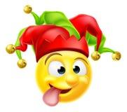 Hof Jester Emoji Emoticon Royalty-vrije Stock Afbeeldingen