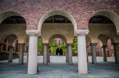 Hof in Stockholm-Stadt Hall Stadshuset, Schweden lizenzfreies stockbild
