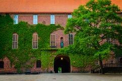 Hof in Stockholm-Stadt Hall Stadshuset, Schweden stockbilder
