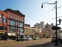 Hof Straat in Binghamton, New York Royalty-vrije Stock Foto's