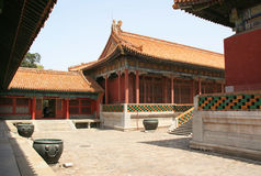 Hof und Pavillons - Verbotene Stadt - Peking - China Stockbild
