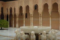 Hof van de Leeuwen in La Alhambra Royalty-vrije Stock Afbeelding