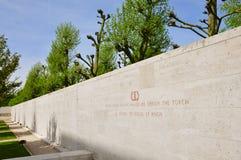 Hof van Eer bij Amerikaanse Begraafplaats Margraten Stock Fotografie