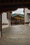 Hof von einem Dzong Lizenzfreies Stockfoto