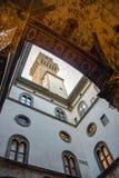 Hof von Palazzo Vecchio stockfoto