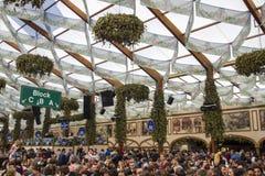 Hofbraeu tent at Oktoberfest in Munich, Germany, 2015 Stock Photos