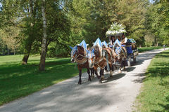 Hofbrau Carriage with Horses Royalty Free Stock Photo