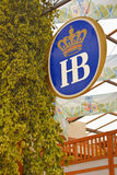 Hofbrau Sign and Hops Stock Photo