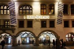 Hofbrauhaus berömd restaurang i Munich Arkivfoto