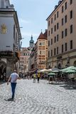 Hofbrauhaus am Platzl w Monachium słoneczny dzień lato Zdjęcia Royalty Free