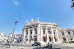 Hofburg剧院,维也纳,奥地利 免版税库存图片