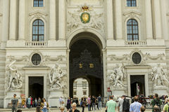Hofburg宫殿在维也纳,奥地利 免版税库存图片