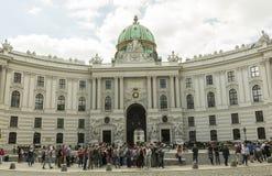 Hofburg宫殿在维也纳,奥地利 库存照片