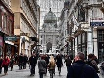 Hofburg宫殿的看法在维也纳市中心 免版税库存图片