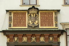 Hofburg宫殿细节在维也纳,奥地利 免版税库存照片