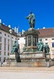 Hofburg 对弗朗兹的纪念碑我, 维也纳 奥地利 免版税图库摄影