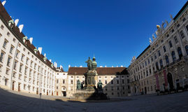 Hofburg. Castle courtyard in the center of Vienna Stock Images