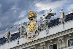 Hofburg. Detail of decoration on the Imperial palace of hofburg in vienna Stock Photo