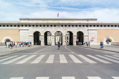 Hofburg castle gate to Ringstrasse in Vienna, Austria Royalty Free Stock Images