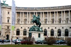 Hofburg, in the central area of Vienna Royalty Free Stock Photography