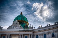 Hofburg Dome Stock Image