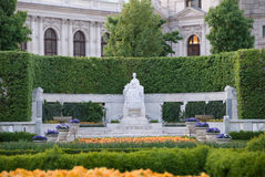 Hofburg gardens. Gardens near Hofburg Palace in Vienna Royalty Free Stock Image