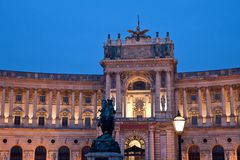 Hofburg Heldenplatz in Vienna Austria Stock Images
