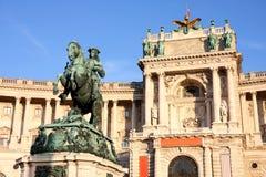 Hofburg i Wien, Österrike Arkivfoton