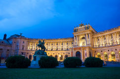 Hofburg Imperial Palace at night, Vienna Royalty Free Stock Photography