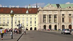 Hofburg Imperial Palace In Vienna stock video footage