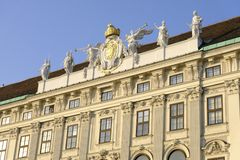The Hofburg imperial palace in Vienna, Austria.  Stock Photography