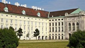 Hofburg Imperial Palace In Vienna stock footage