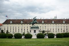 Hofburg Imperial palace in Vienna royalty free stock photo