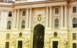 Hofburg, keizerwoonplaatsen in Wenen, Oostenrijk Stock Fotografie