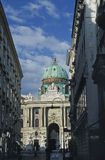 Hofburg main entrance, Vuienna. The main entrance of Hofburg seen from Kohlmarkt, Vienna, Austria. Hofburg is the Imperial Palace which has been the residence of Stock Images