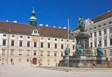 Hofburg. Monument to Franz I,. Vienna. Austria Royalty Free Stock Photo
