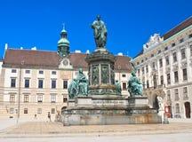 Hofburg. Monument to Franz I,. Vienna. Austria Stock Photography