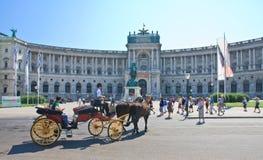 Hofburg Nuovo castello vienna l'austria Immagini Stock Libere da Diritti