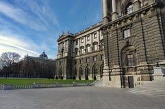 Hofburg pałac - Neue Burg sekcja fotografia stock