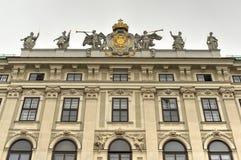 Hofburg pałac podwórze - Wiedeń, Austria zdjęcie stock