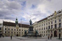 Hofburg pałac Wiedeń fotografia royalty free