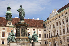Hofburg Palace. Monument in the patio of Hofburg Imperial palace, Vienna Stock Images