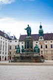 Hofburg Palace courtyard with Emperor Franz I monument Royalty Free Stock Photography