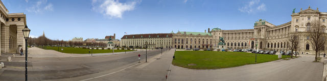 Hofburg palace pan Stock Photo