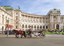 Hofburg palace and square Stock Photos