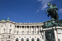 Hofburg Palace, Vienna, Austria. Monument to prince Eugene at the Heldenplatz within the Hofburg in Vienna, Austria Royalty Free Stock Photography