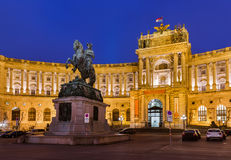 Hofburg palace in Vienna Austria. Cityscape architecture background Royalty Free Stock Photos