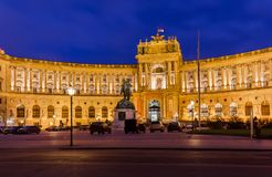 Hofburg palace in Vienna Austria Royalty Free Stock Photo