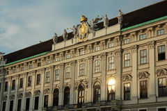 Hofburg Palace, Vienna, Austria. Front detailed view of the Hofburg Palace, Vienna, Austria Stock Image